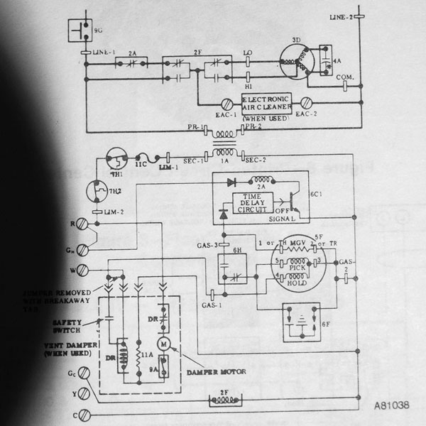 old carrier gas furnace wiring diagram furnace repair 396gaw #15